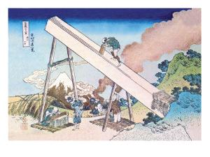 Working Within View of Mount Fuji by Katsushika Hokusai
