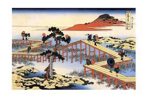 Yatsuhashi in Mikawa Province, C1835 by Katsushika Hokusai