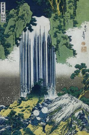 Katsushika Hokusai (Yoro Waterfall, Mino Province) Art Poster Print