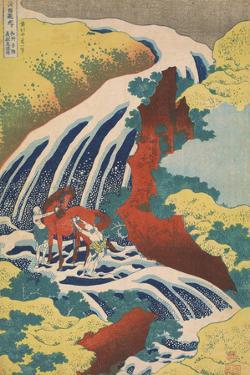 Yoshitsune Falls by Katsushika Hokusai