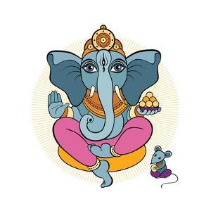Ganesha and Mouse by Katya Ulitina