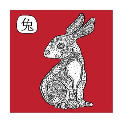 Chinese Zodiac. Animal Astrological Sign. Rabbit. by Katyau