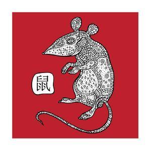 Rat. Chinese Zodiac. Animal Astrological Sign. by Katyau