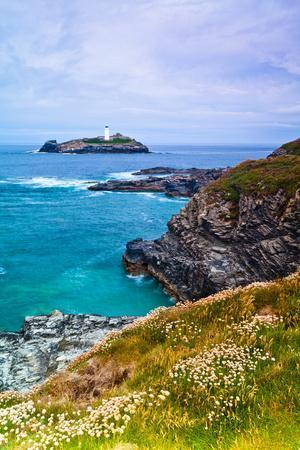 Godrevy Lighthouse, Cornwall, England, United Kingdom, Europe