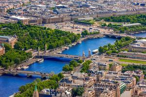 View of Paris, Pont Alexandre Iii and Place De La Concorde from the Eiffel Tower by kavalenkava volha