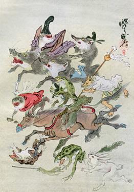 Hunting Animals, 1898 by Kawanabe Kyosai