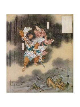 Izanagi and Izanami Giving Birth to Japan, 1925 by Kawanabe Kyosai