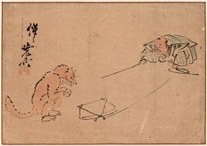 Tsuri Gitsune by Kawanabe Kyosai