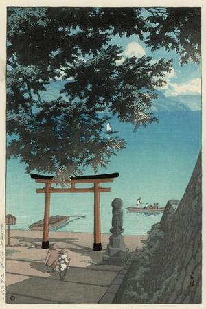 Chuzenji Temple at Utagahama - Tori Gate and Ferry