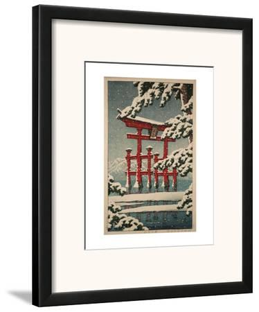 Miyajima in Snow (Yuki no Miyajima), 1929 by Kawase Hasui