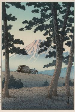 Mount Fuji Seen from Tagonoura in the Evening by Kawase Hasui
