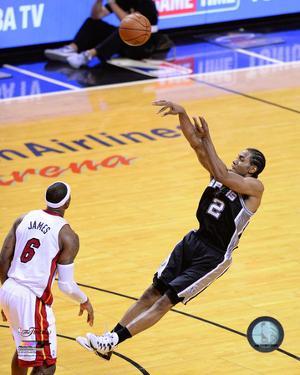 Kawhi Leonard Game 3 of the 2014 NBA Finals Action