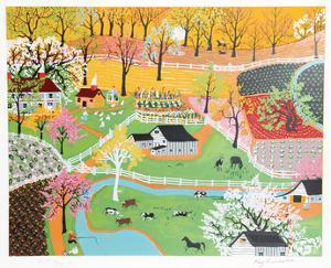 Early American Farm by Kay Ameche