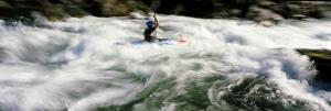 Kayaker, Trinty River, California, USA