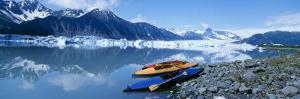 Kayaks by the Side of a River, Alaska, USA