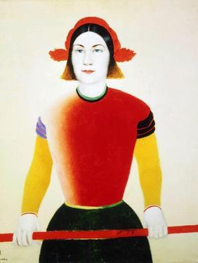 A Girl with a Red Pole, 1932-1933 by Kazimir Malevich