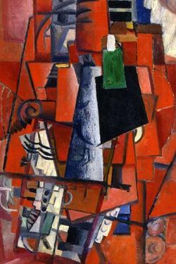 A Woman at the Piano, 1913 by Kazimir Malevich