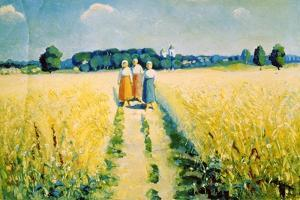Three Women on the Road, after 1927 by Kazimir Malevich