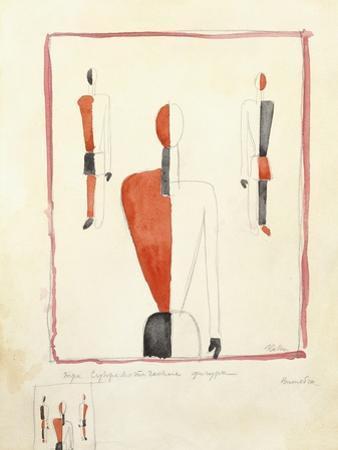 Three Suprematist Figures, C. 1921-2 by Kazimir Severinovich Malevich