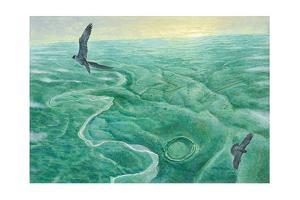 Falcons Soar Above Salisbury Plain, Stonehenge and Woodhenge by Kazuhiko Sano