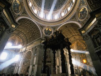 Shafts of Light Inside St. Peter's Basilica