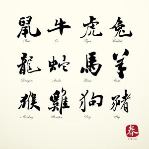 Calligraphy Zodiac Symbols by kchungtw