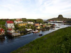 Late Evening View in the Fishing Village of Sandvig by Keenpress