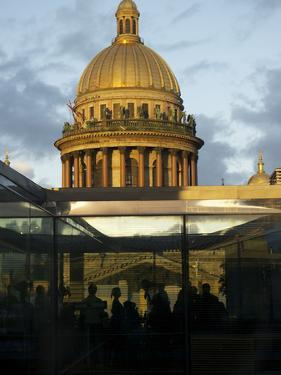 St Isaac's Cathedral Seen from a Nearby Modern Restaurant by Keenpress