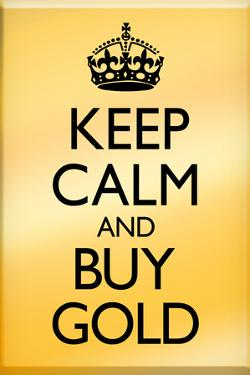 Keep Calm and Buy Gold Plastic Sign