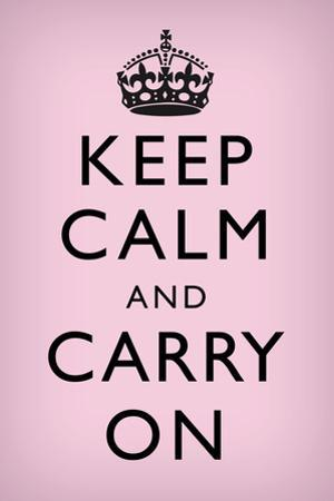 Keep Calm and Carry On (Motivational, Light Pink) Plastic Sign