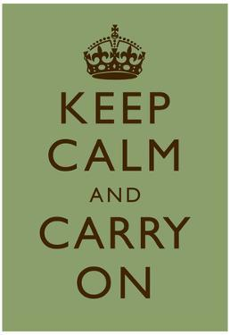 Keep Calm and Carry On Motivational Mint Green Art Print Poster