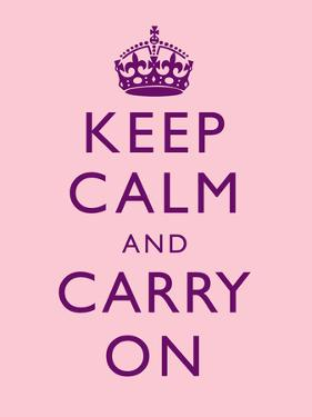 Keep Calm and Carry On Motivational Pale Pink Art Print Poster