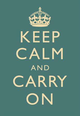Keep Calm and Carry On Motivational Slate Art Print Poster