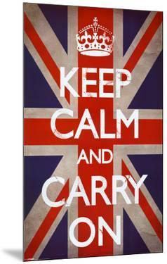 Keep Calm and Carry On (Motivational, Union Jack Flag)