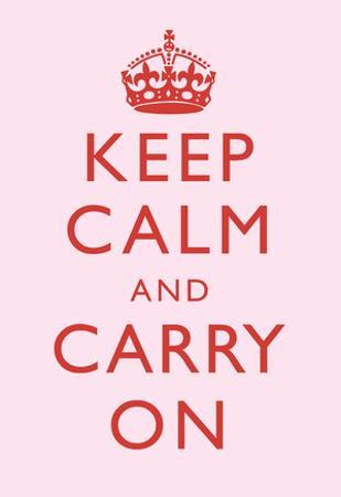 Keep Calm and Carry On Motivational Very Light Pink Art Print Poster