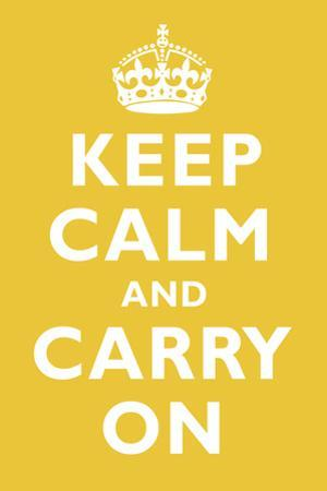 Keep Calm and Carry On Mustard Art Print Poster