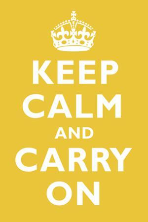 Keep Calm and Carry On Mustard