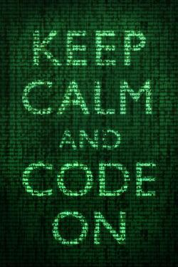 Keep Calm and Code On Plastic Sign