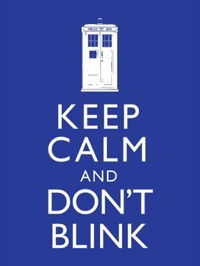 Keep Calm and Don't Blink Television Poster