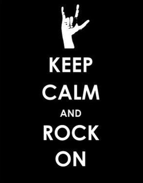 Keep Calm and Rock On (Hand)