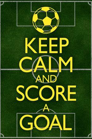 Keep Calm and Score a Goal Soccer Plastic Sign