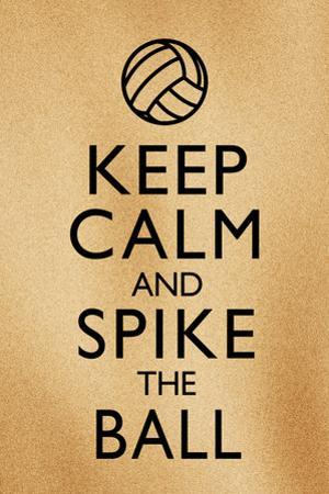 Keep Calm and Spike the Ball Beach Volleyball
