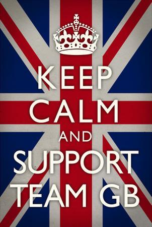 Keep Calm and Support Team GB Sports Poster