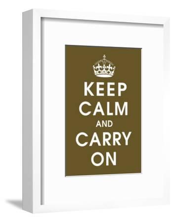 Keep Calm (chocolate)--Framed Giclee Print
