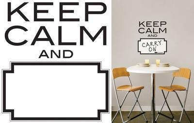 Keep Calm Dry Erase Wall Decal Sticker Quote Part 74