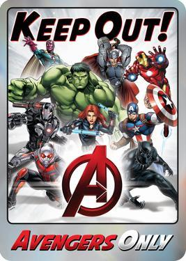 Keep Out Avengers Metal Sign