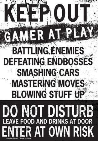 Keep Out Gamer At Play…