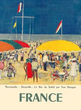 France - Deauville, Normandie (Normandy) - Le Bar du Soleil (The Sunshine Bar) by Kees Van Dongen