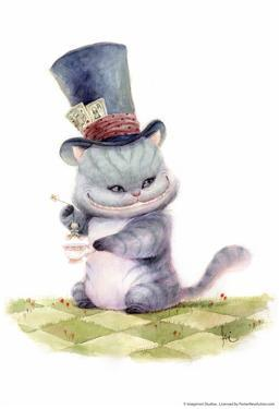 Teatime With The Cheshire Cat by Kei Acedera