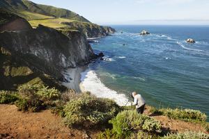 A Man Taking Photographs of California's Big Sur Coast by Keith Barraclough